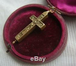 Antique Victorian Relic Reliquary Cross Pendant from Bavarian Estate of a Priest