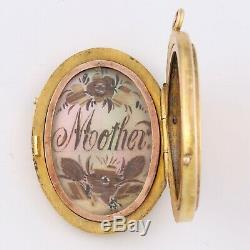 Antique Victorian Solid 14k Yellow Gold Locket for Mom or Mother Pendant