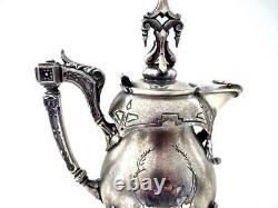 Antique Victorian Wilcox Silver-plate Spectacular Milk Pitcher Excellent ESTATE