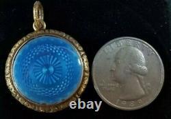 Antique Victorian Yellow Gold Enamel Locket Pendant 15k Estate Jewelry 9.6 gm