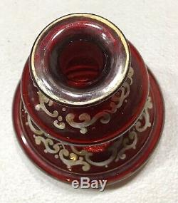 Antique Vintage 19C Estate Victorian Hand Painted Glass Perfume Bottle Flask Old