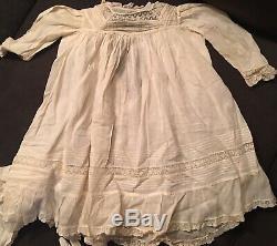 Antique Vintage Estate Baby Doll Dresses Opera Gloves Mens Hankies C LOT