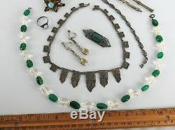 Antique Vintage Victorian Art Deco Nouveau Jewelry Lot Estate Sterling Silver #2