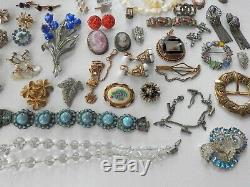 Antique Vintage Victorian Art Deco Nouveau Jewelry Lot Gold Silver Tone Estate C