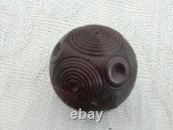 Antique Wooden Snuff Puzzle Ball box, clever well made box, old estate find