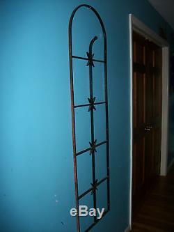 Antique Wrought Iron Fence Richmond VA Estate Gate Metal Art Victorian Primitive