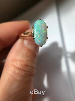 Antique vintage estate australian opal ring 14 k gold victorian