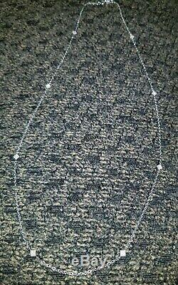 BEAUTIFUL! VINTAGE 14K SOLID GOLD DIAMONDS by the YARD VICTORIAN STYLE NECKLACE