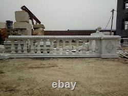 Beautiful Carved Marble Estate Interior Or Ex Balustrades And Railings Hbr32
