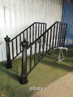 Beautiful Wrought And Cast Iron Exterior Estate Staircase Railings Pir56
