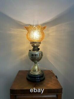 Beautifully Restored Electrified 1800s English Oil Lamp from Prominent Estate