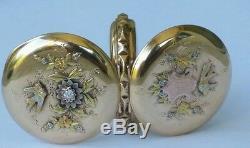 Elgin Antique 14k Gold Diamond Swallow Pocket Watch-Victorian Watch-Estate