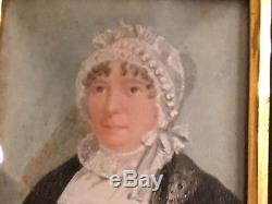 English19th Century Watercolor Portrait Lady Framed Charles Faudree Estate