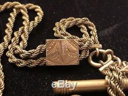 Estate Antique 12k Gold Filled Victorian Watch Fob Locket Picture Holder