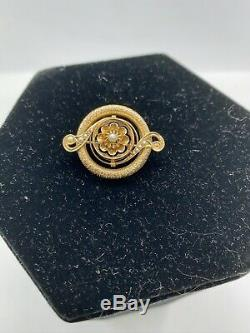 Estate Antique 14k Rose Gold Victorian Seed Pearl Pin Brooch