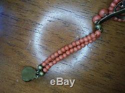 Estate Antique Victorian Natural Red Coral Bracelet