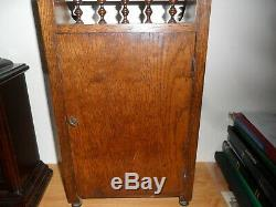 Estate Clearance Vintage Victorian Oak Inlaid Mantle Clock/ Not Working/