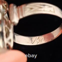 Estate Coral Cameo 10k Yellow Gold Ring Cocktail Dinner Antique Jewelry Gift