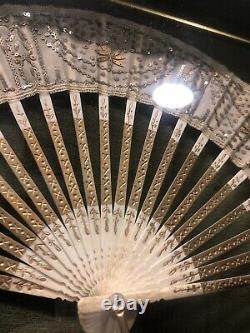 Estate Find Framed Victorian Hand Fan