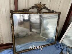 Estate Sale Large Antique Victorian Gilt Gesso Wood Wall Mirror