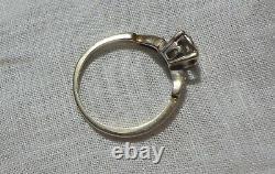 Estate Victorian 14kt Wg Diamond Ring 7 Total Diamonds R-7. 3/4