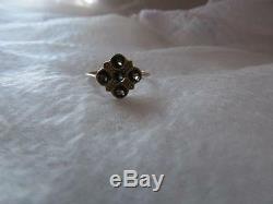 Estate Vintage Antique Victorian Bohemian Round Cut Garnet 9K Ring