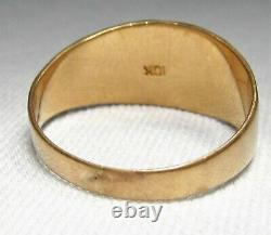 Estate Vintage Victorian 10K Yellow Gold Signet Ring Grape Clusters WOW! C2130