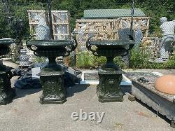 Great Victorian Style Estate Cast Iron Urns Rs1779b