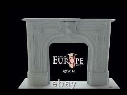 Hand Carved Marble Victorian Style Estate Fireplace Mantel Ra158