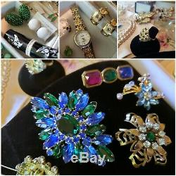 Huge AWESOME Antique & Vintage Jewelry Lot #2 over 120 items Victorian to now