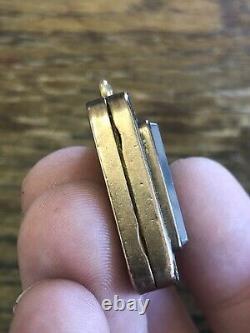 LARGE & Magnificent ANTIQUE California GOLD & GOLD IN QUARTZ & AGATE Fob Locket