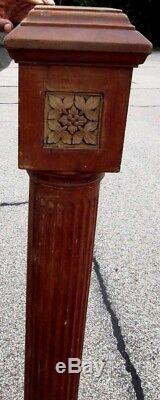 Large 54 Antique Victorian Solid Wood Newel Post From A Cincinnati Estate 496