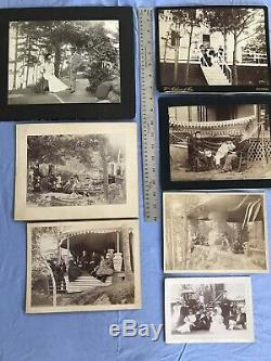 Large Antique Cabinet Photos PULLMAN FAMILY Picnic Canoes Estate Victorian