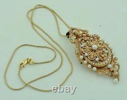 Large & Fabulous 14K Victorian Seed Pearl Necklace