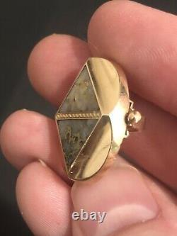 Magnificent VICTORIAN Era California GOLD & GOLD IN QUARTZ Ladies SLIDE Pendant