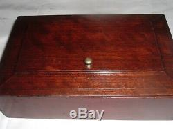RARE Matched Pair Estate Antique Victorian Walnut Bible or Documents Boxes Box