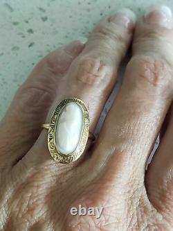 Rare Antique Victorian 14K Gold & Cameo Sardonix Estate Ring Sz 6