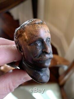 Rare Antique Victorian Gentleman Head Pipe Teddy Roosevelt