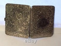 SALE Estate Vintage Sterling Silver Traveling Ornate Photo Album Locket Pocket