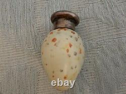 Silver Mounted 1886 Sampson Mordan Scent Bottle, Birds Egg Shape, estate find