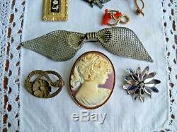 Sterling Edwardian Georgian Victorian Aesthetic Jewelry lot antique estate paste