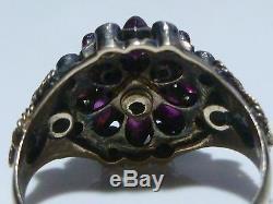 Stunning Victorian Art Nouveau 14k Gold Womens Antique Estate Ring Size 5.5