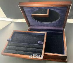 Unique Vintage Sterling Silver Repousse Marquetry Wood Jewelry Box Estate Find
