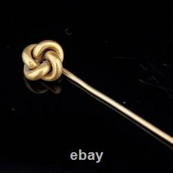 Victorian 14k Yellow Gold Knot Stick Pin Antique Vintage Estate Gift