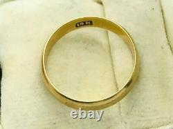 Victorian 18K Rose Gold Wedding Stackable Band Ring Antique
