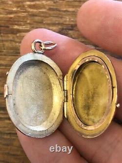 Victorian ANTIQUE California GOLD & GOLD IN QUARTZ Watch FOB Locket Pendant