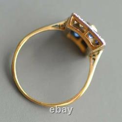 Victorian Edwardian Engagement Estate Ring 14k Yellow Gold Filled 2.6 Ct Diamond