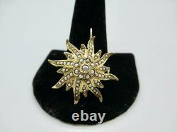Victorian Estate 14 Kt Yellow Gold Seed Pearl Pendant Or Pin Brooch