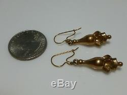 Victorian Gold Filled Rolled Gf Antique Estate Womens Pierced Earrings Set