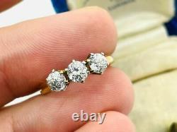Victorian J. R. Wood & Son 14K Rose Gold Old Mine Cut 1.08CTW Diamond Ring